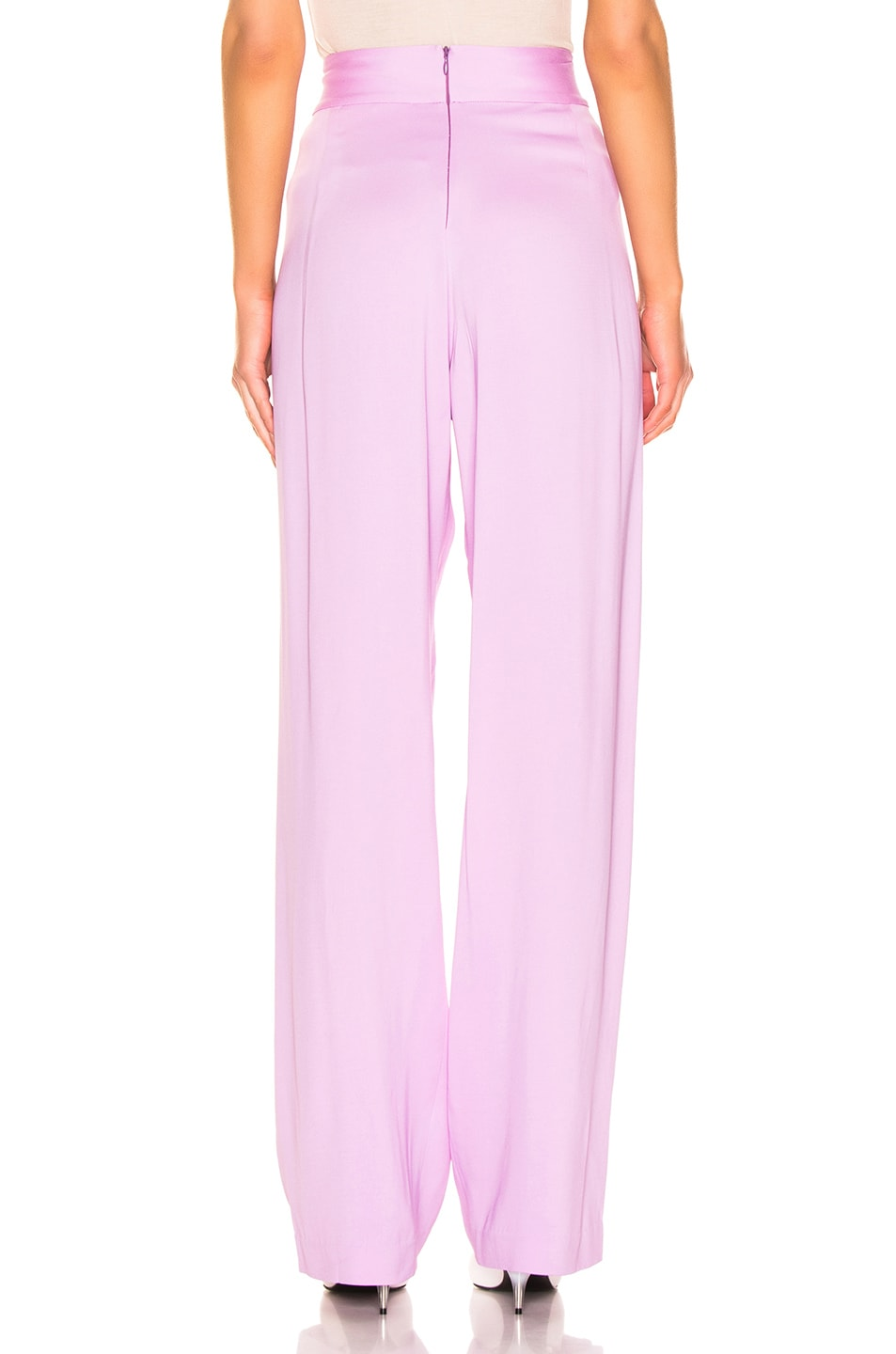 Image 3 of Michelle Mason Wise Leg Trouser in Lilac