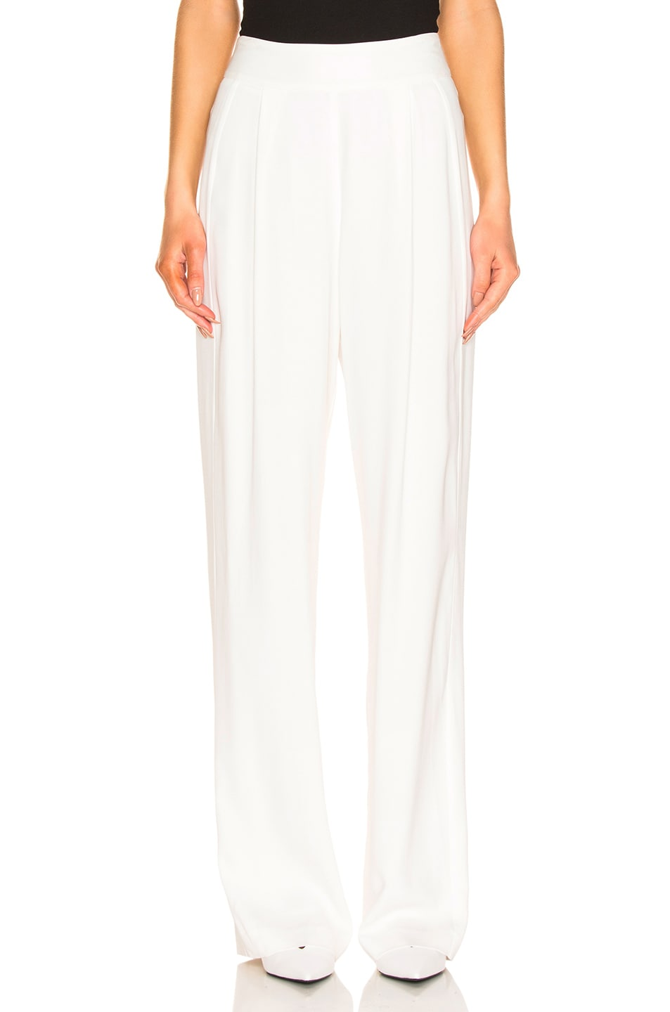 Image 1 of Michelle Mason Wide Leg Trouser in Ivory