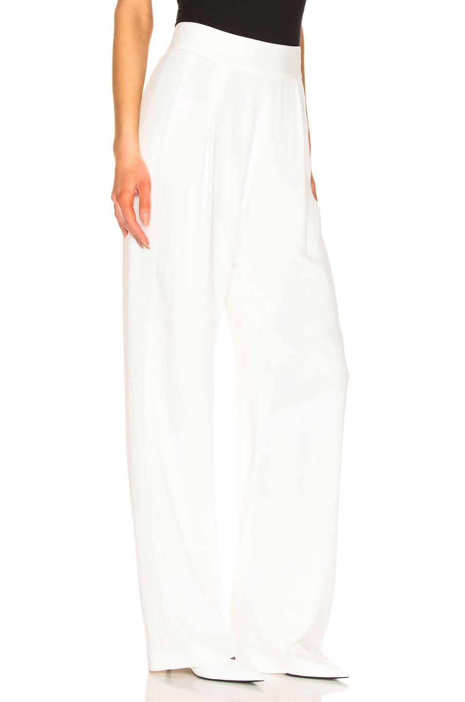 Image 2 of Michelle Mason Wide Leg Trouser in Ivory
