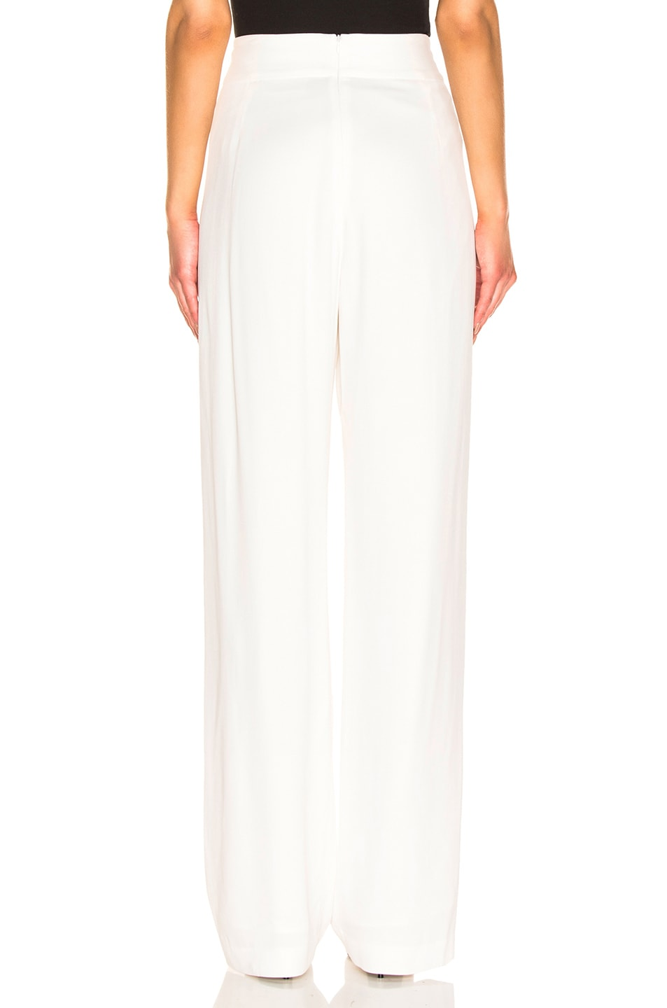 Image 3 of Michelle Mason Wide Leg Trouser in Ivory