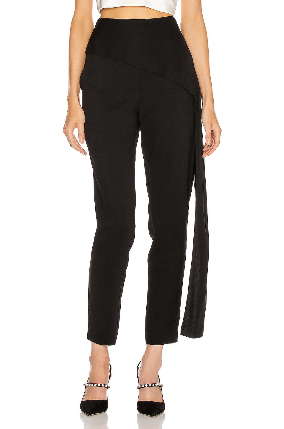 Image 1 of Michelle Mason Side Drape Pant in Black