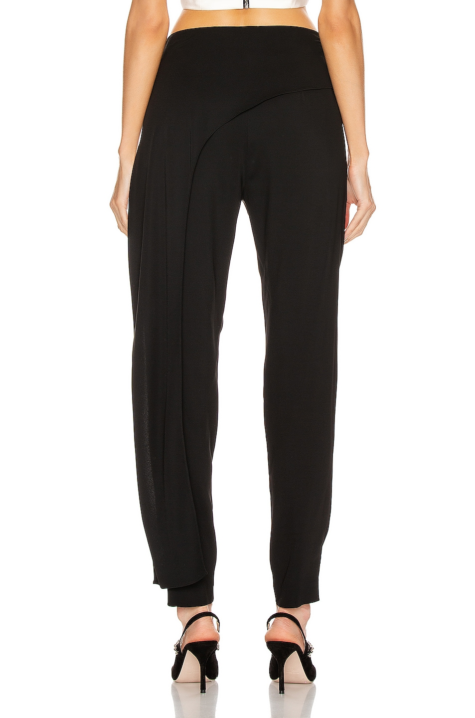 Image 4 of Michelle Mason Side Drape Pant in Black