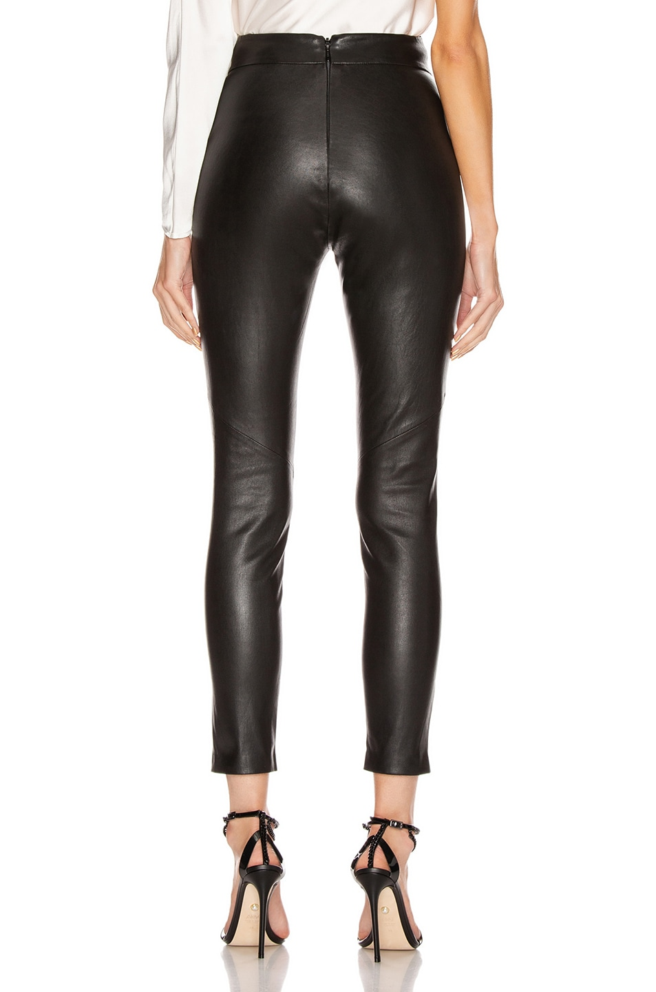 Image 3 of Michelle Mason Corset Leather Trouser in Black