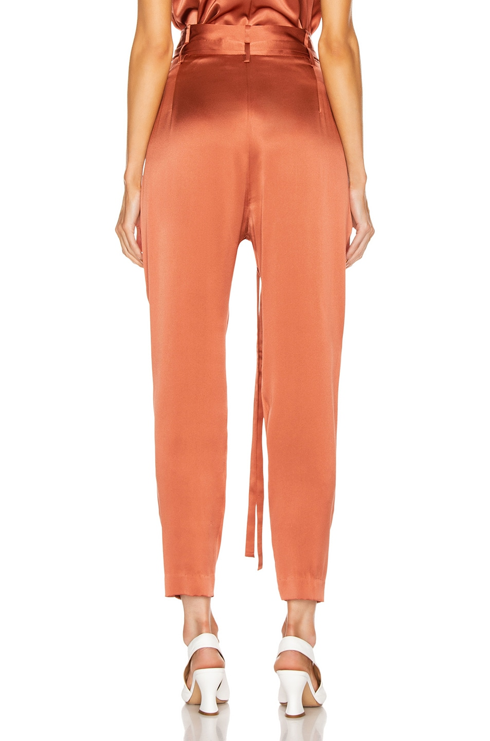 Image 3 of Michelle Mason Paperbag Cropped Trouser in Dune