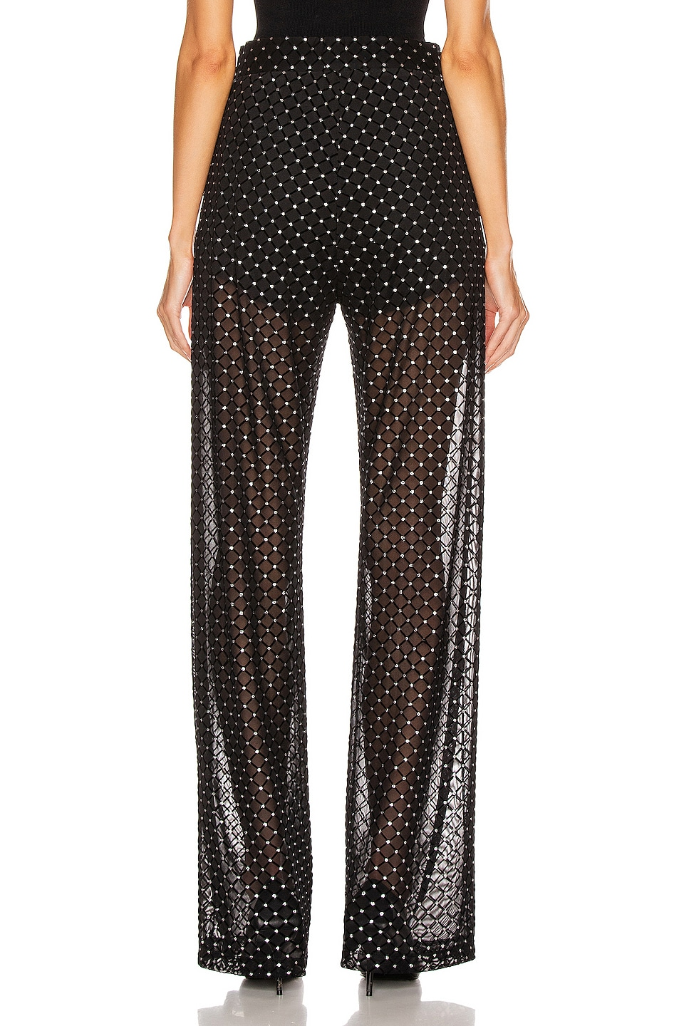 Image 3 of Michelle Mason for FWRD Sheer Pant in Black Shimmer