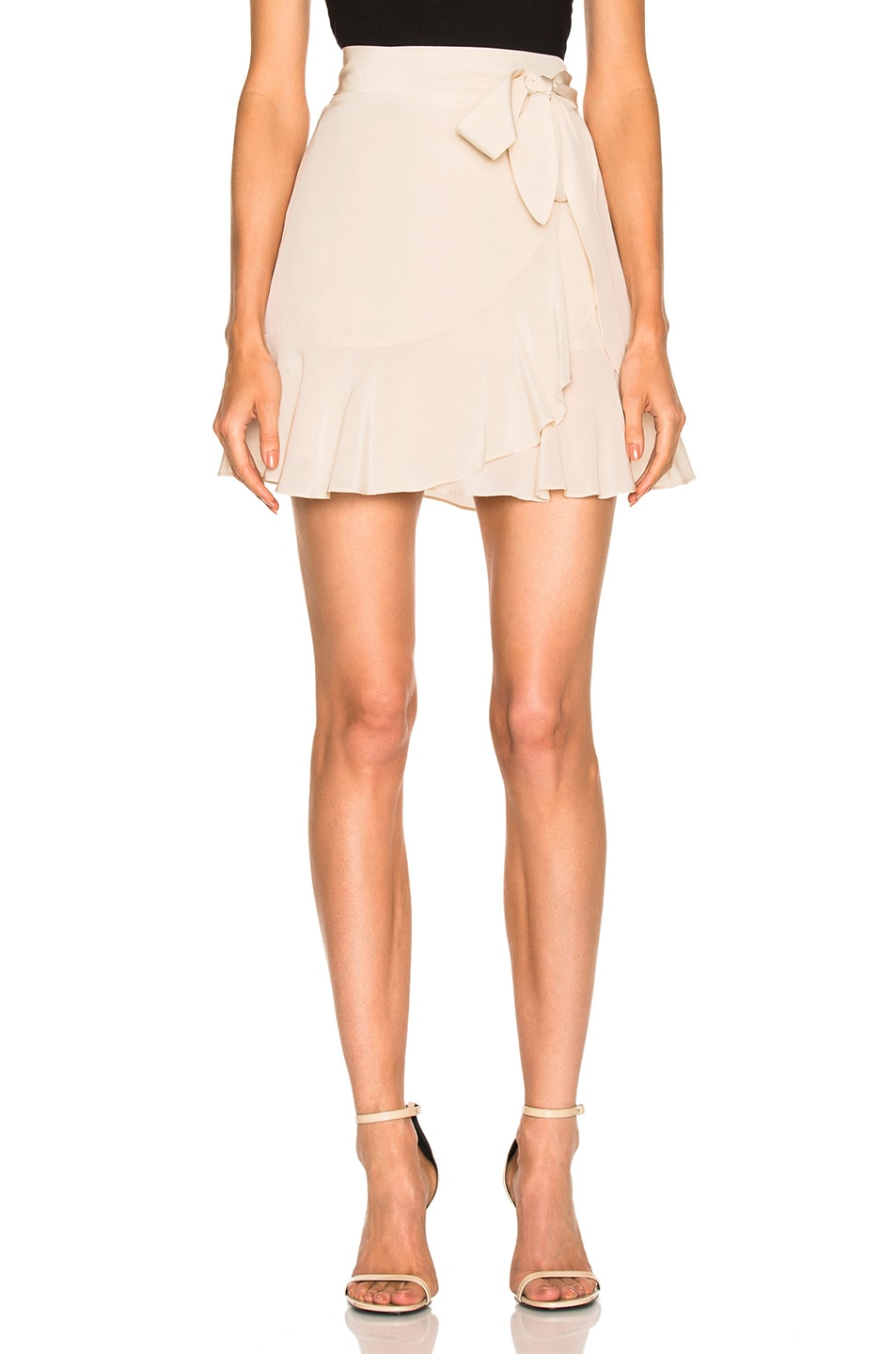 Image 1 of Michelle Mason Ruffle Mini Skirt in Bisque