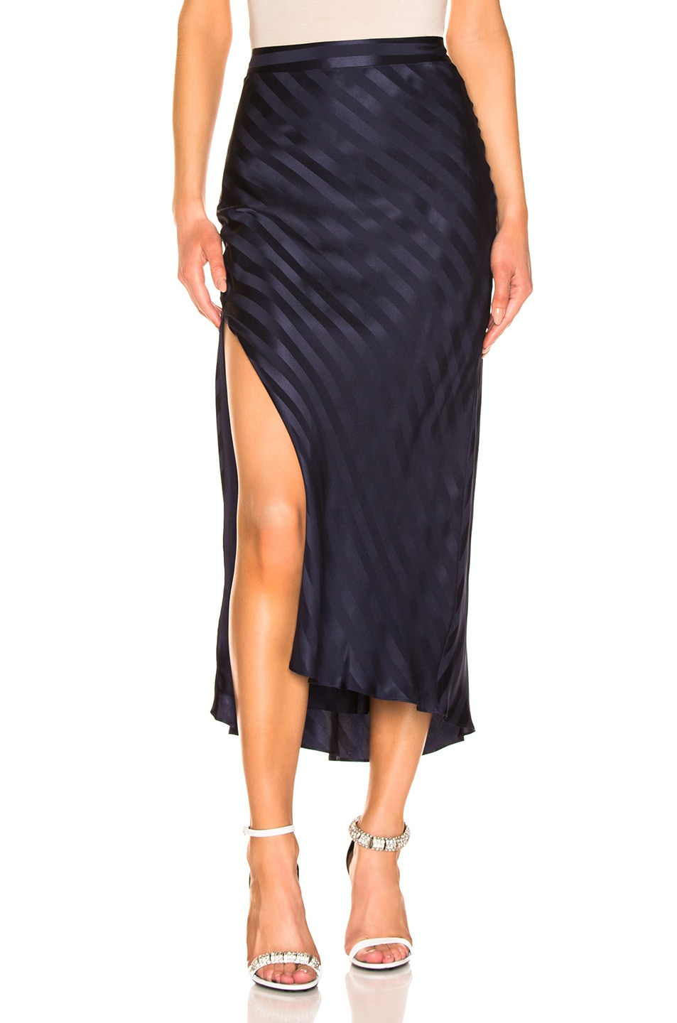 Image 1 of Michelle Mason Asymmetrical Skirt in Black Currant