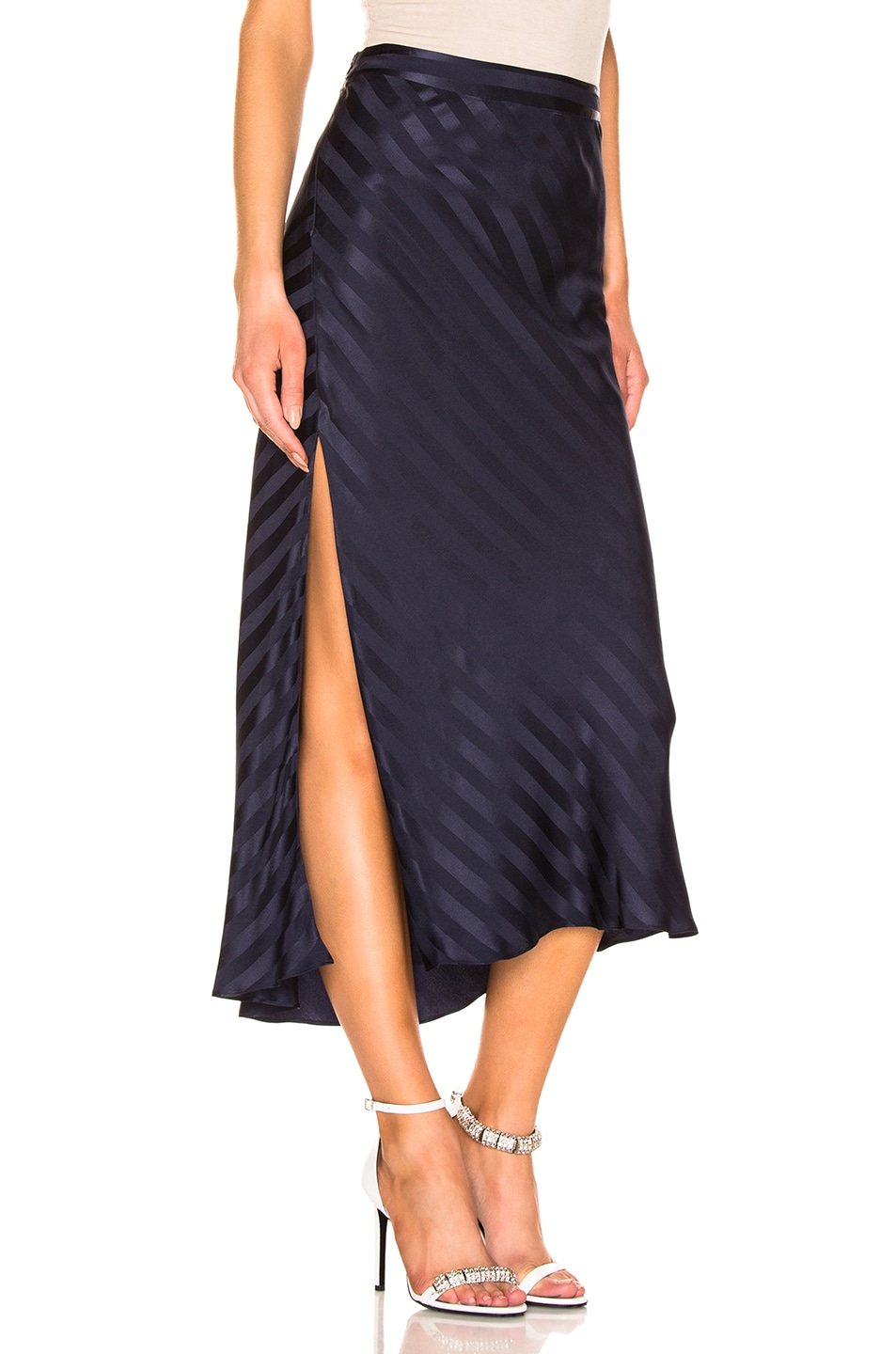 Image 2 of Michelle Mason Asymmetrical Skirt in Black Currant