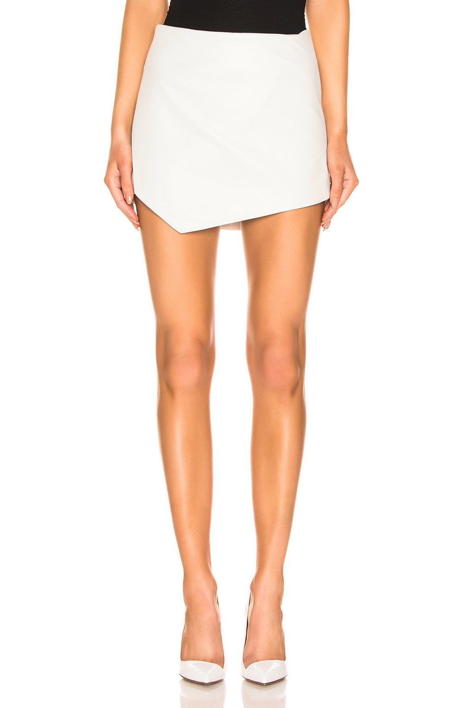 Image 1 of Michelle Mason Mini Skirt in Ivory