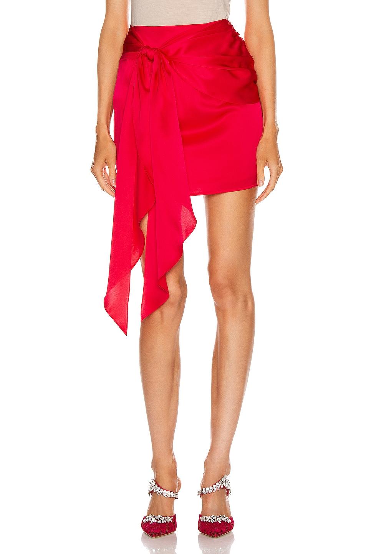 Image 1 of Michelle Mason Mini Sash Skirt in Peony