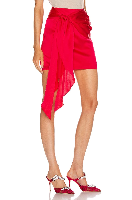 Image 2 of Michelle Mason Mini Sash Skirt in Peony