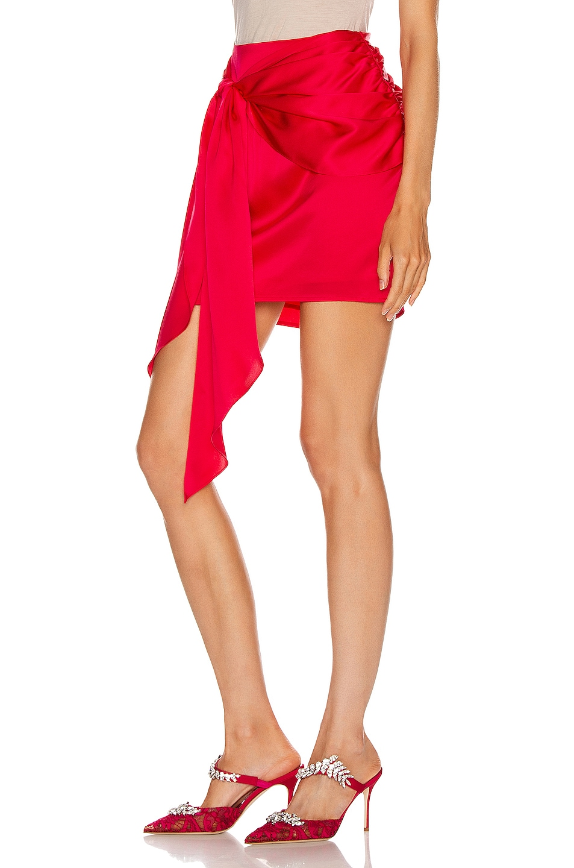 Image 3 of Michelle Mason Mini Sash Skirt in Peony