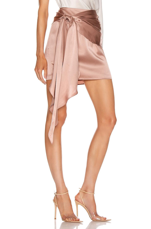 Image 2 of Michelle Mason Mini Sash Skirt in Shell