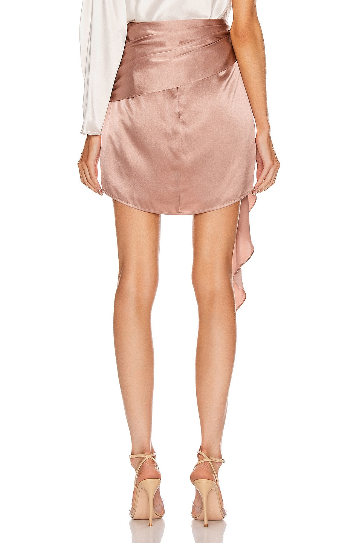 Image 4 of Michelle Mason Mini Sash Skirt in Shell