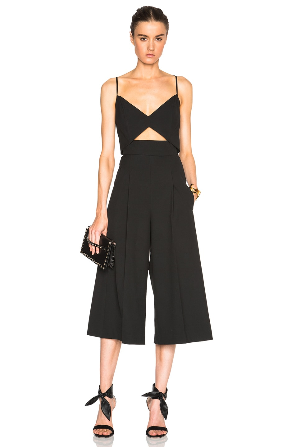 Image 1 of Mason by Michelle Mason Bustier Jumpsuit in Black