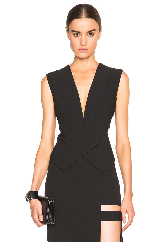 f4c917e838d48 Image 1 of Michelle Mason Cage Plunge Top in Black