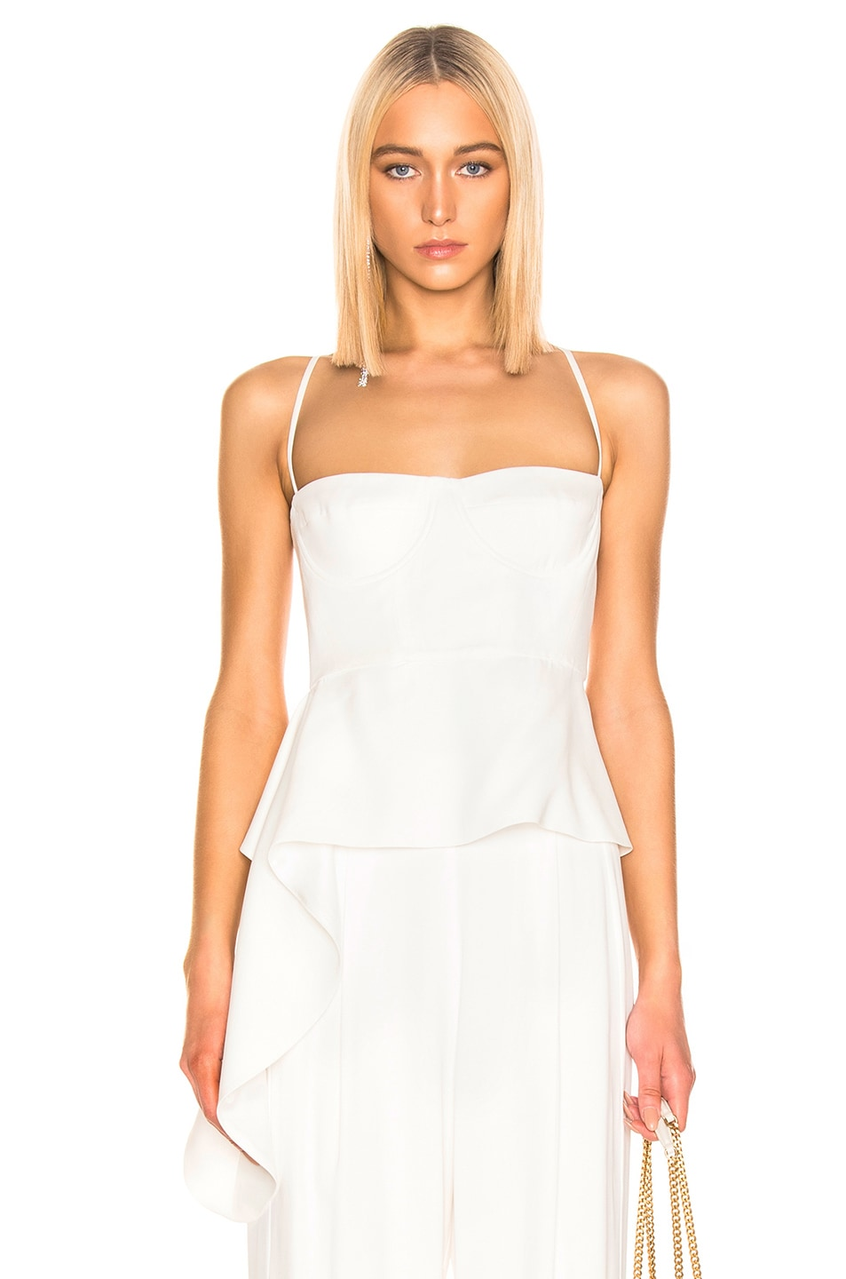 Image 1 of Michelle Mason Bustier Draped Top in Ivory
