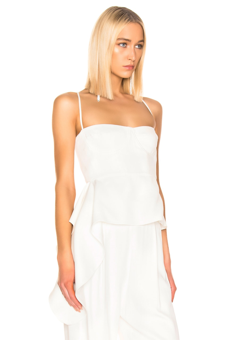Image 2 of Michelle Mason Bustier Draped Top in Ivory