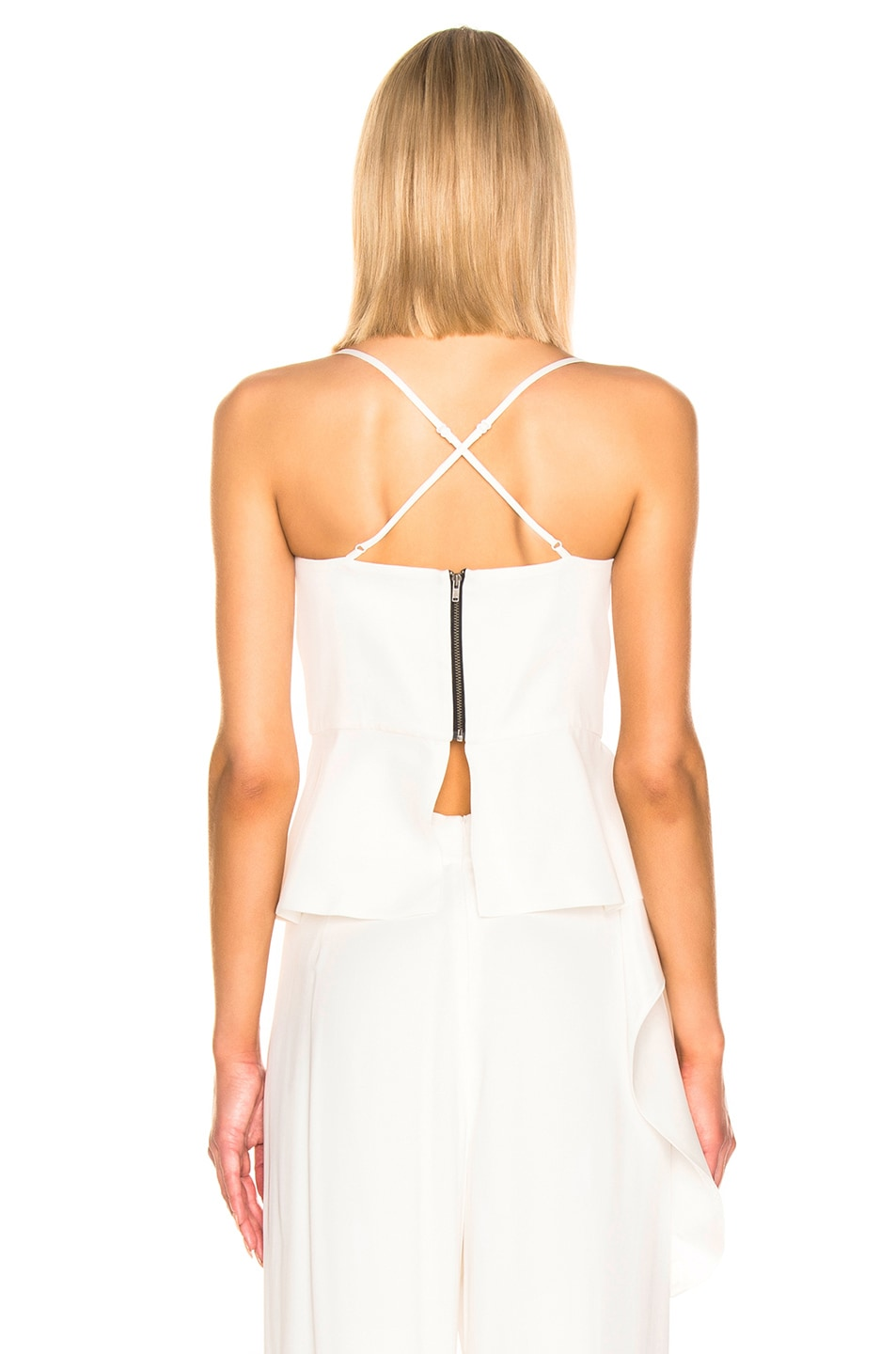Image 4 of Michelle Mason Bustier Draped Top in Ivory