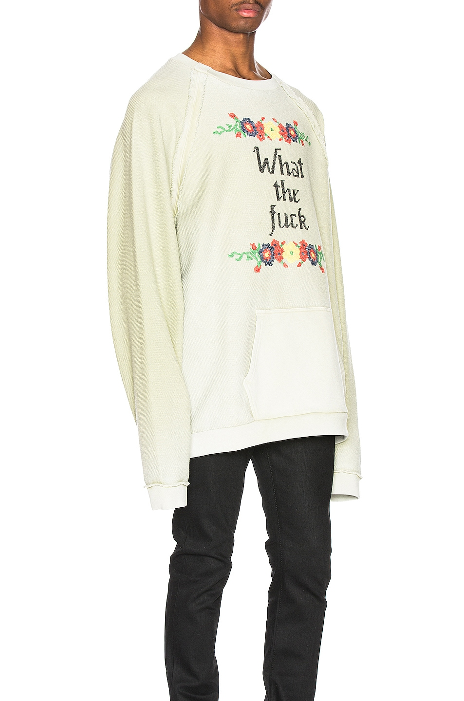 Image 2 of Maison Margiela Fade Garment Graphic Long Sleeve Tee in Lichen Green