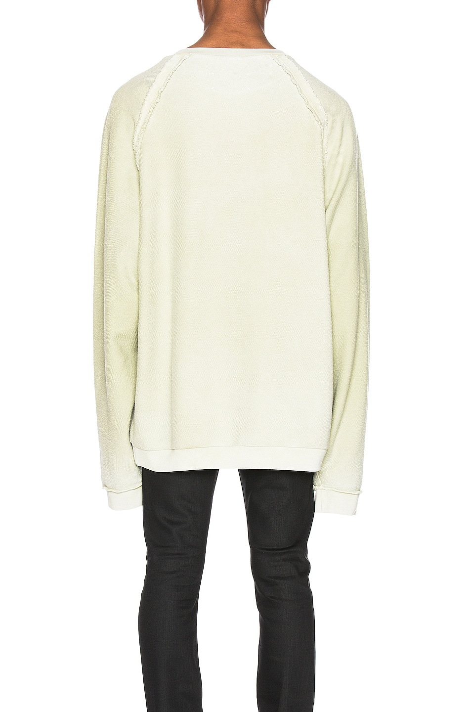 Image 3 of Maison Margiela Fade Garment Graphic Long Sleeve Tee in Lichen Green