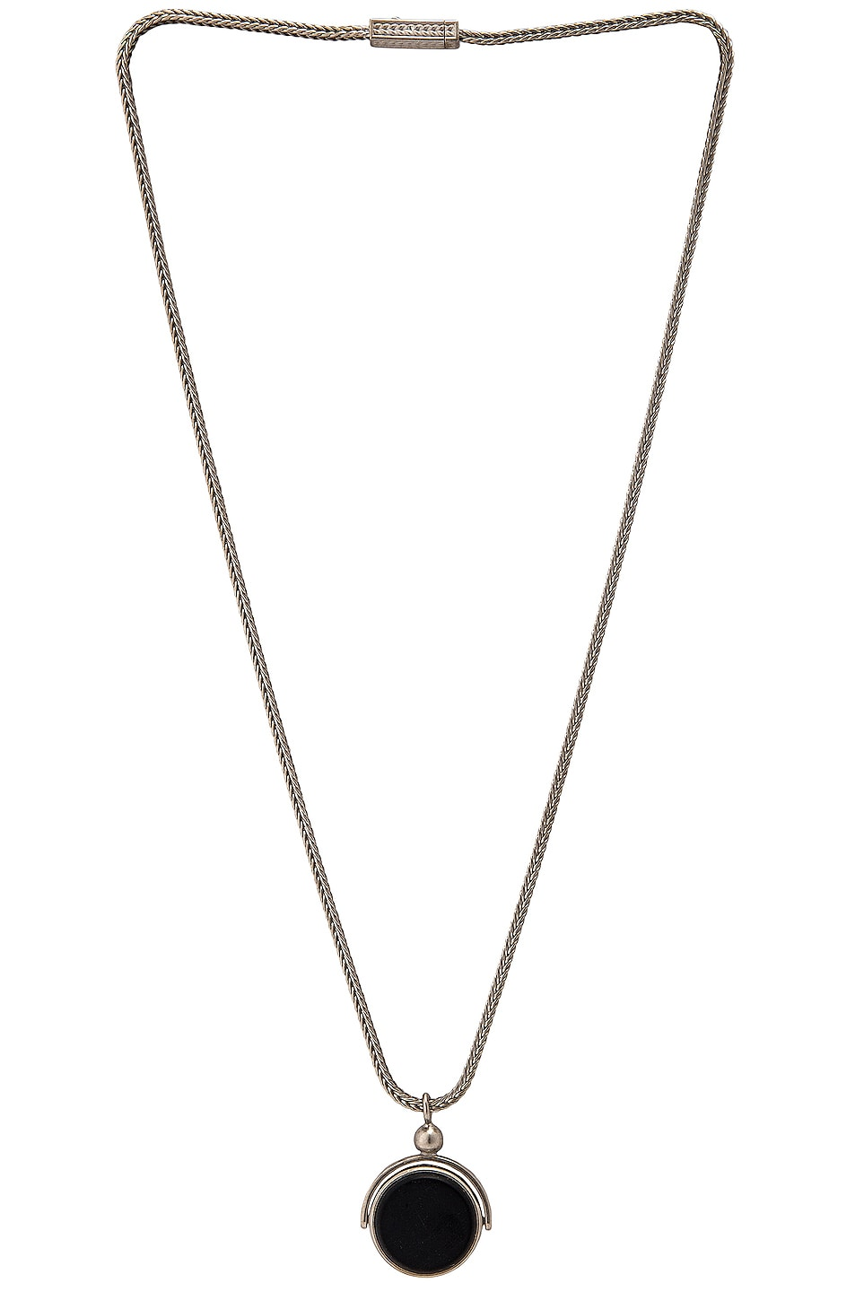 Image 1 of Maison Margiela Necklace in Silver, Black & Red