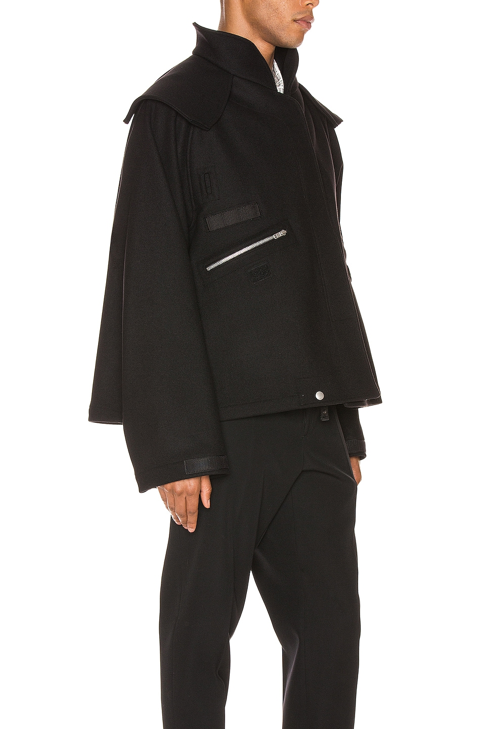 Image 3 of Maison Margiela Zip Jacket in Black