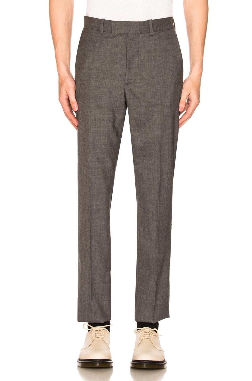 Image 1 of Maison Margiela Two Ply Wool Poplin Trouser in Grey