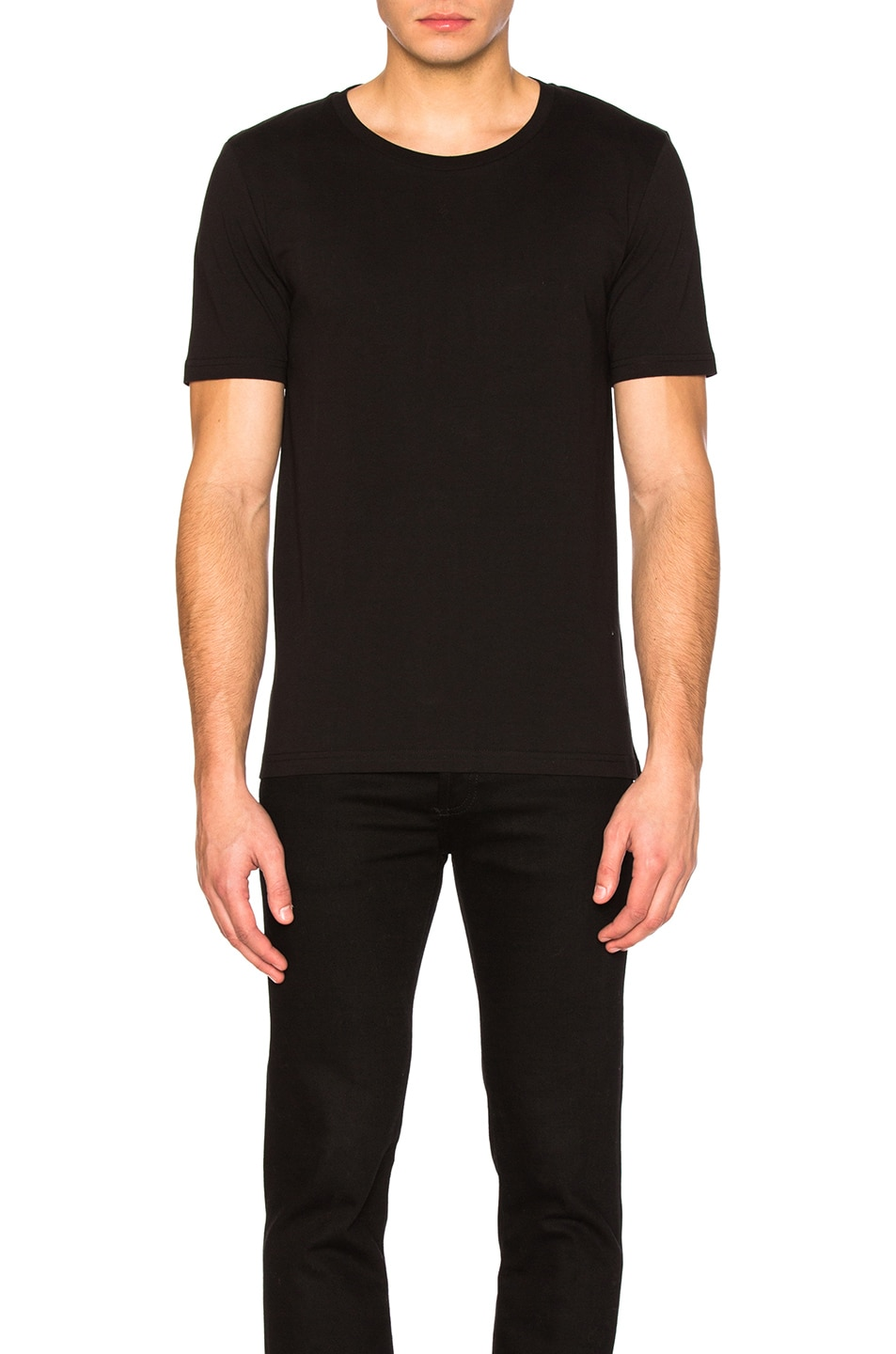 Image 1 of Maison Margiela Garment Dyed Basic Tee in Black