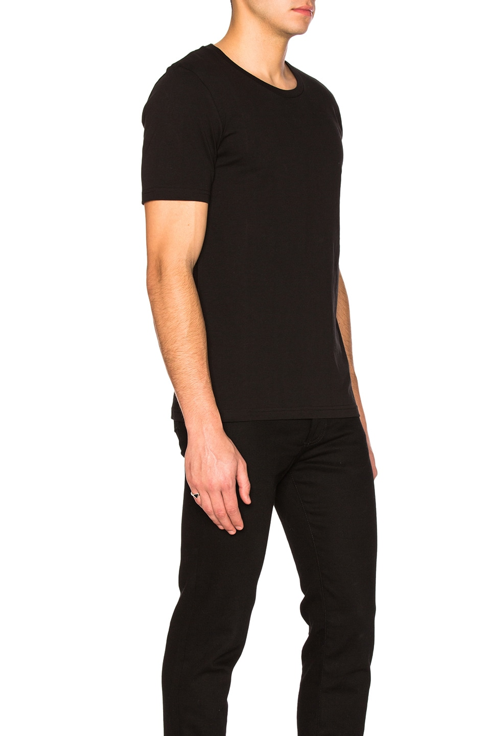 Image 3 of Maison Margiela Garment Dyed Basic Tee in Black