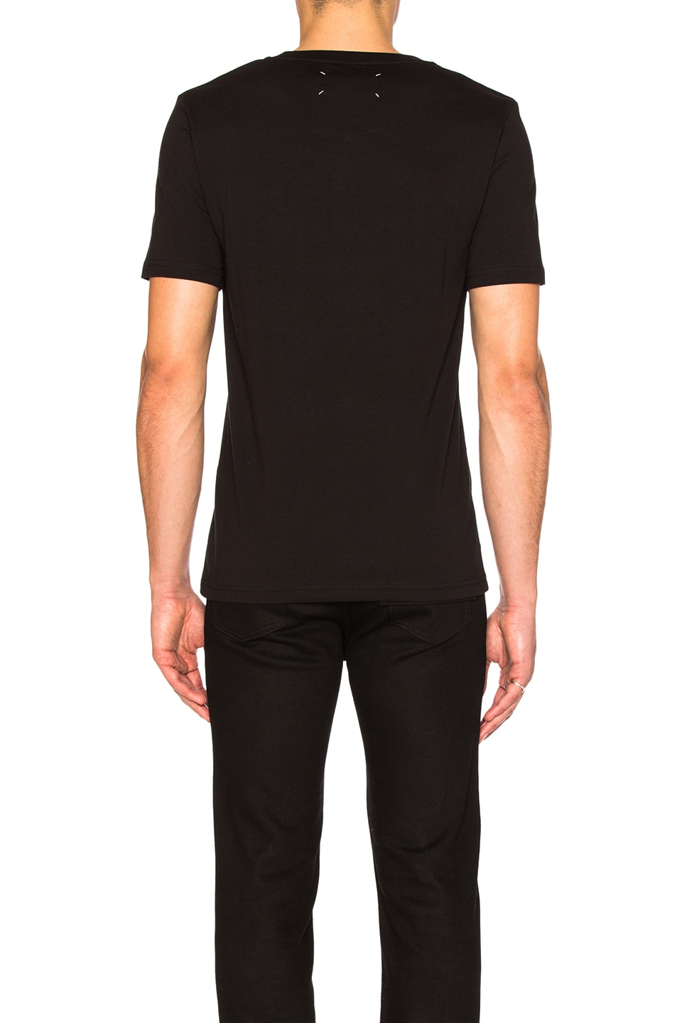 Image 4 of Maison Margiela Garment Dyed Basic Tee in Black