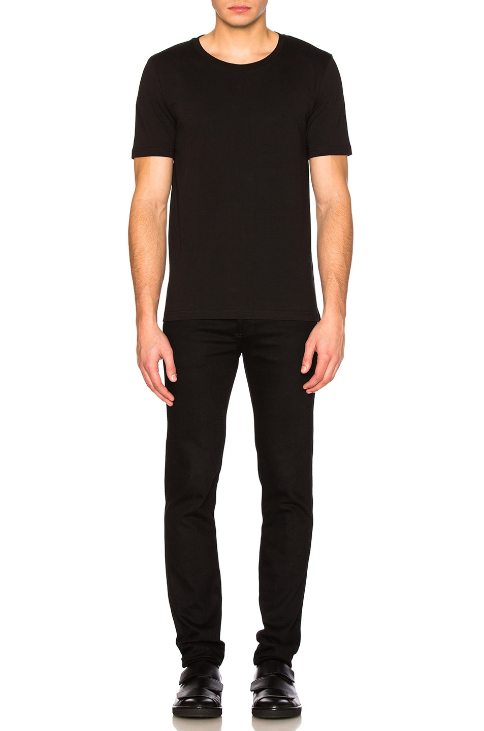 Image 5 of Maison Margiela Garment Dyed Basic Tee in Black