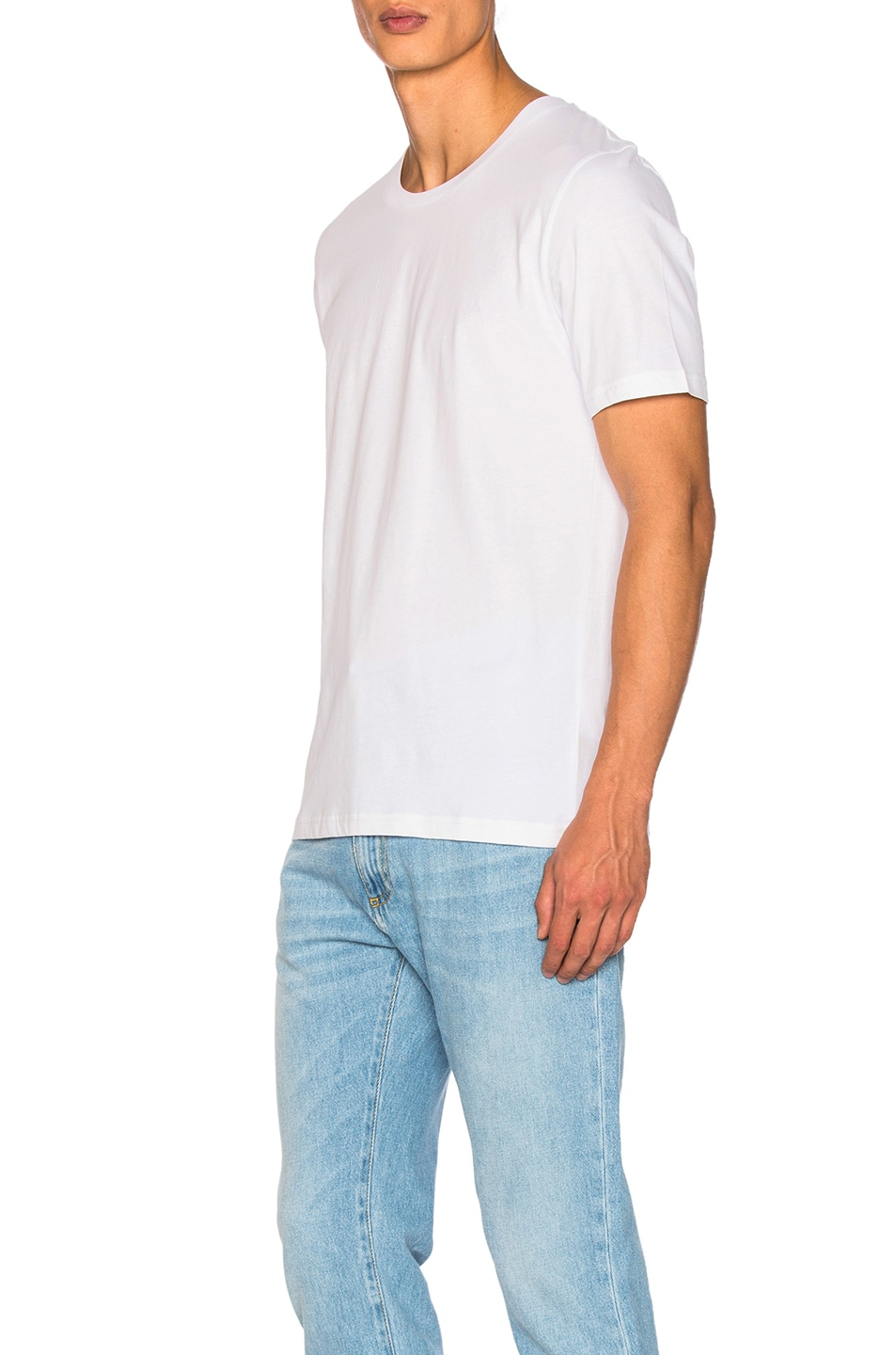 Image 2 of Maison Margiela Garment Dyed Basic Tee in White