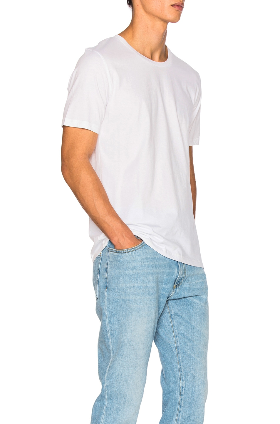 Image 3 of Maison Margiela Garment Dyed Basic Tee in White