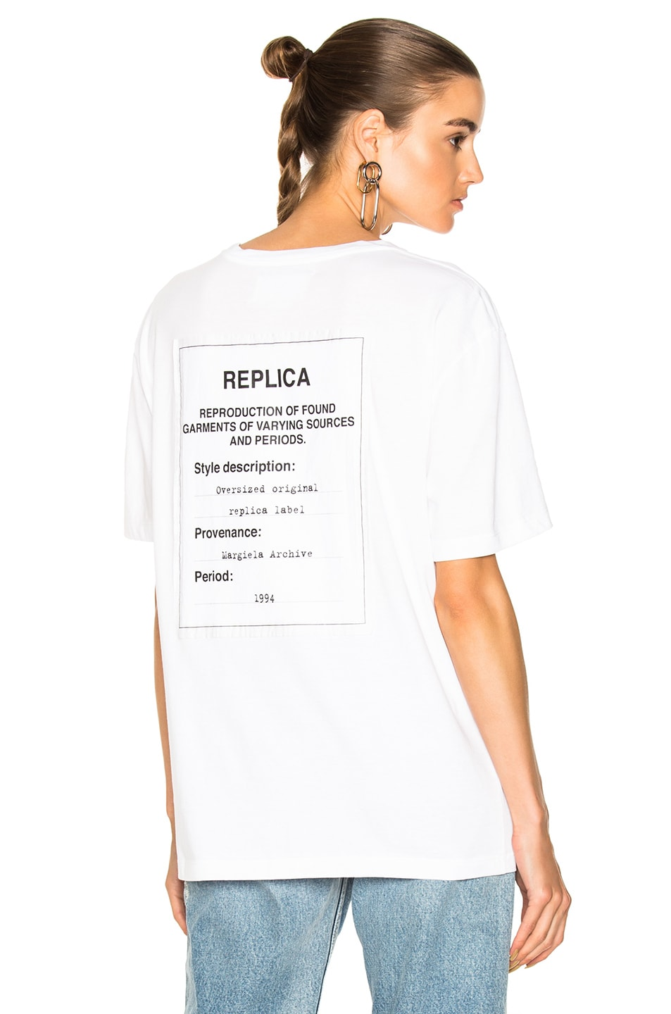 Image 1 of Maison Margiela Jersey Tag Tee in White