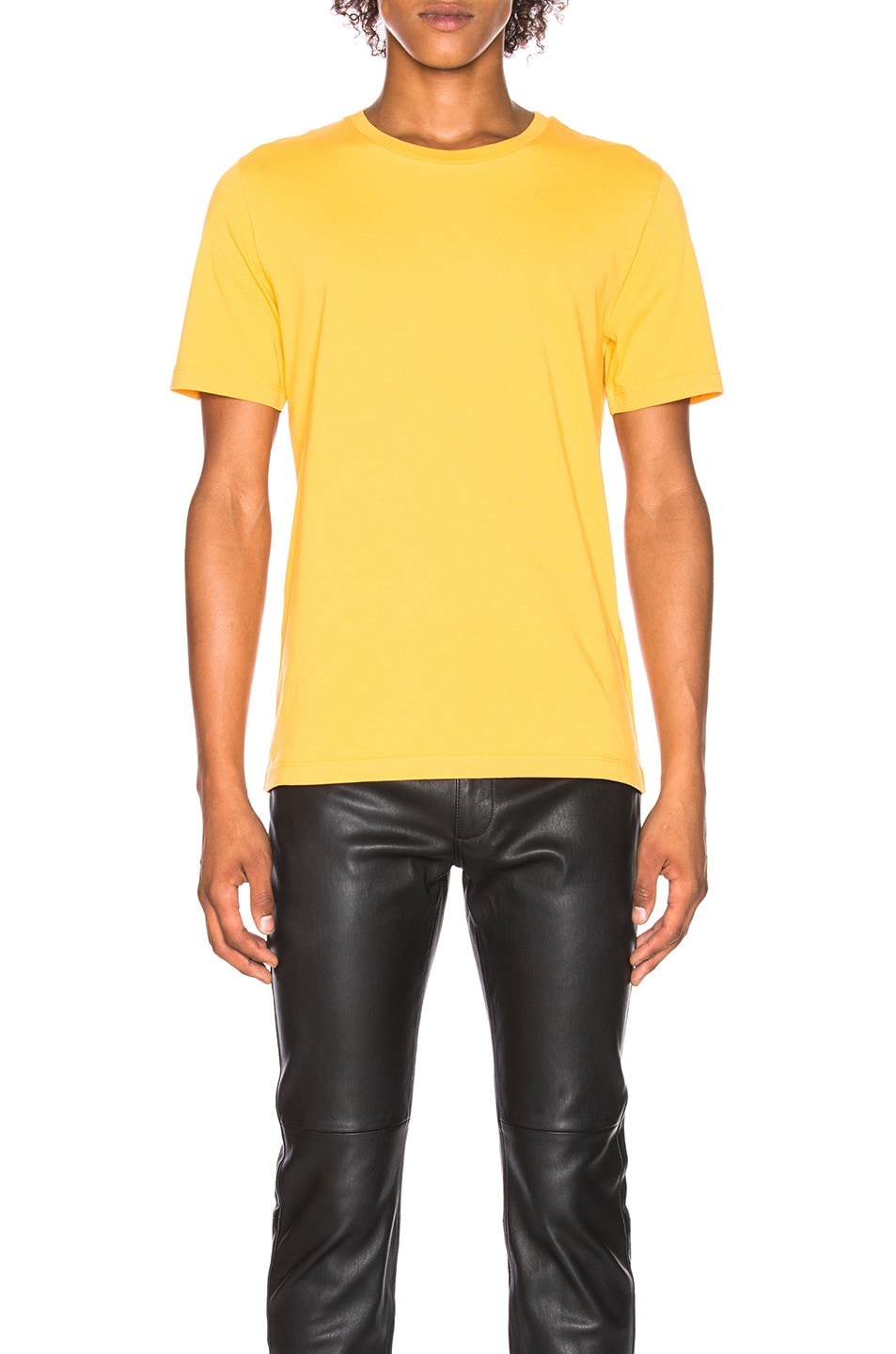Image 1 of Maison Margiela Garment Dyed Tee in Yolk