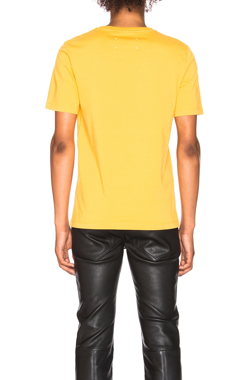 Image 3 of Maison Margiela Garment Dyed Tee in Yolk