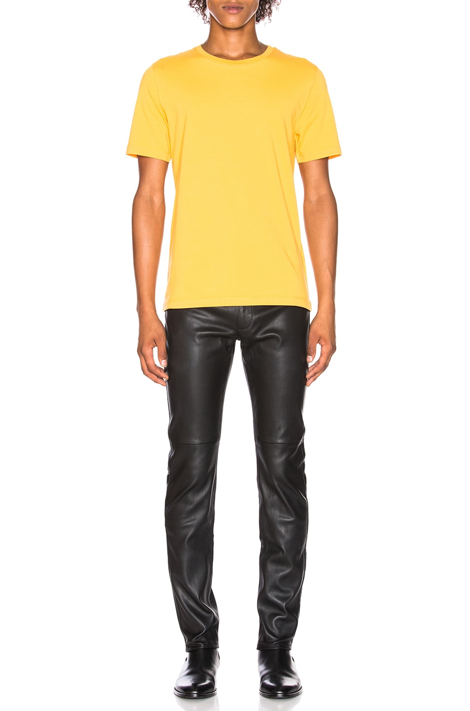 Image 4 of Maison Margiela Garment Dyed Tee in Yolk