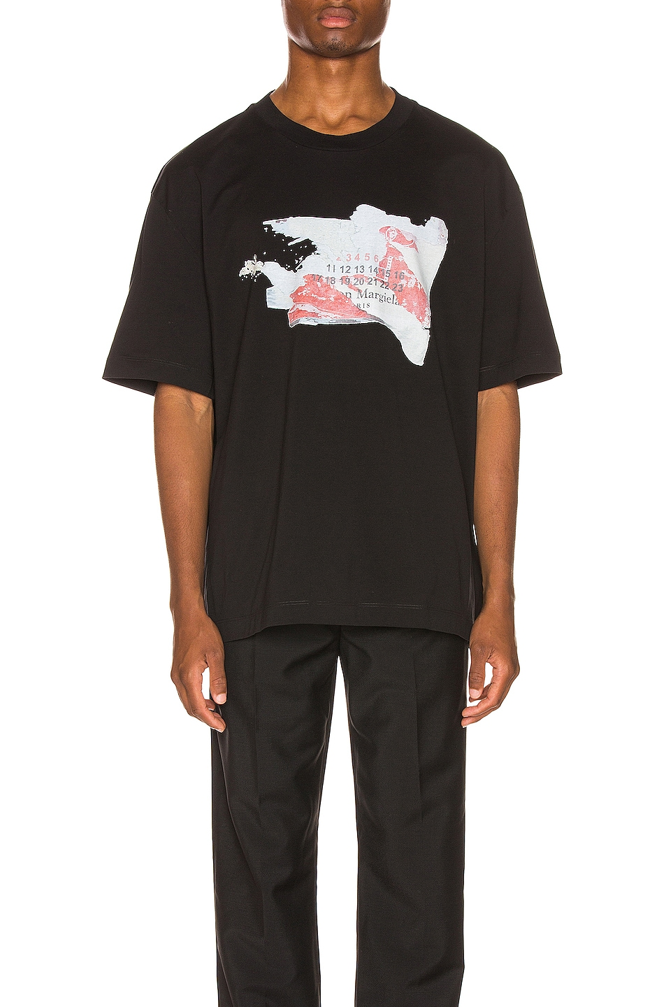 Image 1 of Maison Margiela Graphic Tee in Black
