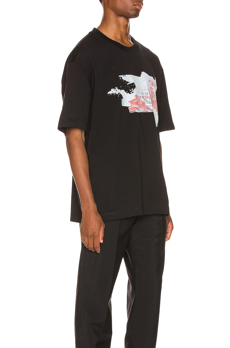 Image 2 of Maison Margiela Graphic Tee in Black