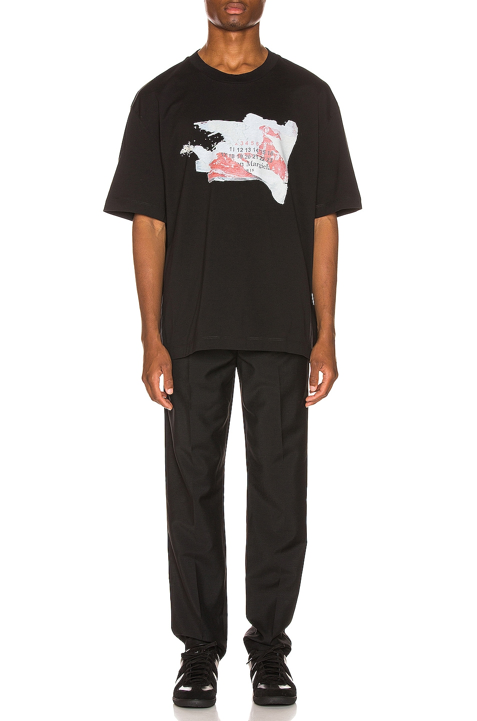 Image 4 of Maison Margiela Graphic Tee in Black