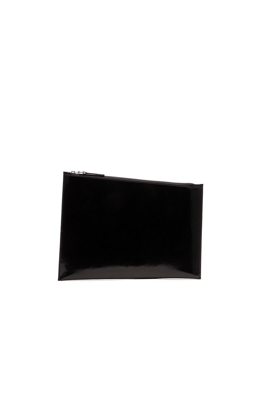 5b736f897c Maison Margiela Brushed Calf Leather Pouch in Black | FWRD