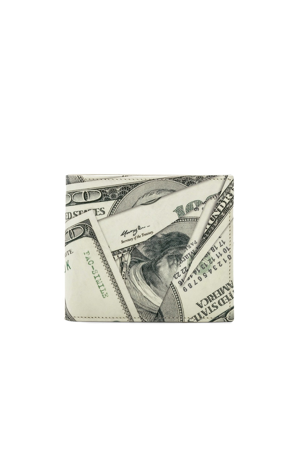 103380db8b27f5 Maison Margiela 2x Martin 11 Dollar Bill Elastic Band. Image 1 Of Maison  Margiela Wallet In Dollar Print. Maison Margiela Wallet In Dollar Print Fwrd