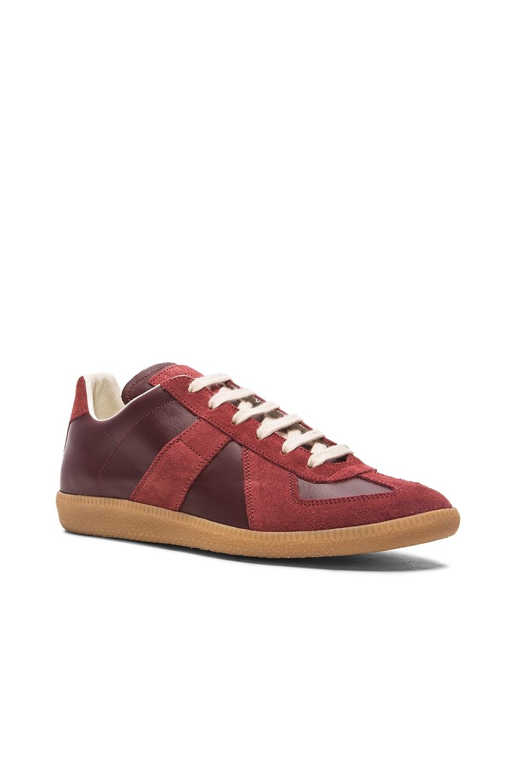 4c479e91623a Image 1 of Maison Margiela Replica Low Top Sneakers in Bordeaux