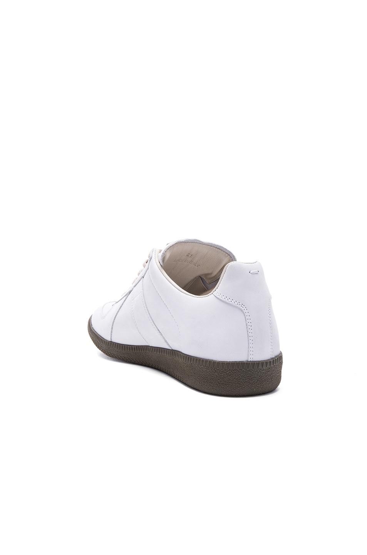 e8184f4f54c Maison Margiela Nubuck Replica Sneakers in White & Khaki | FWRD