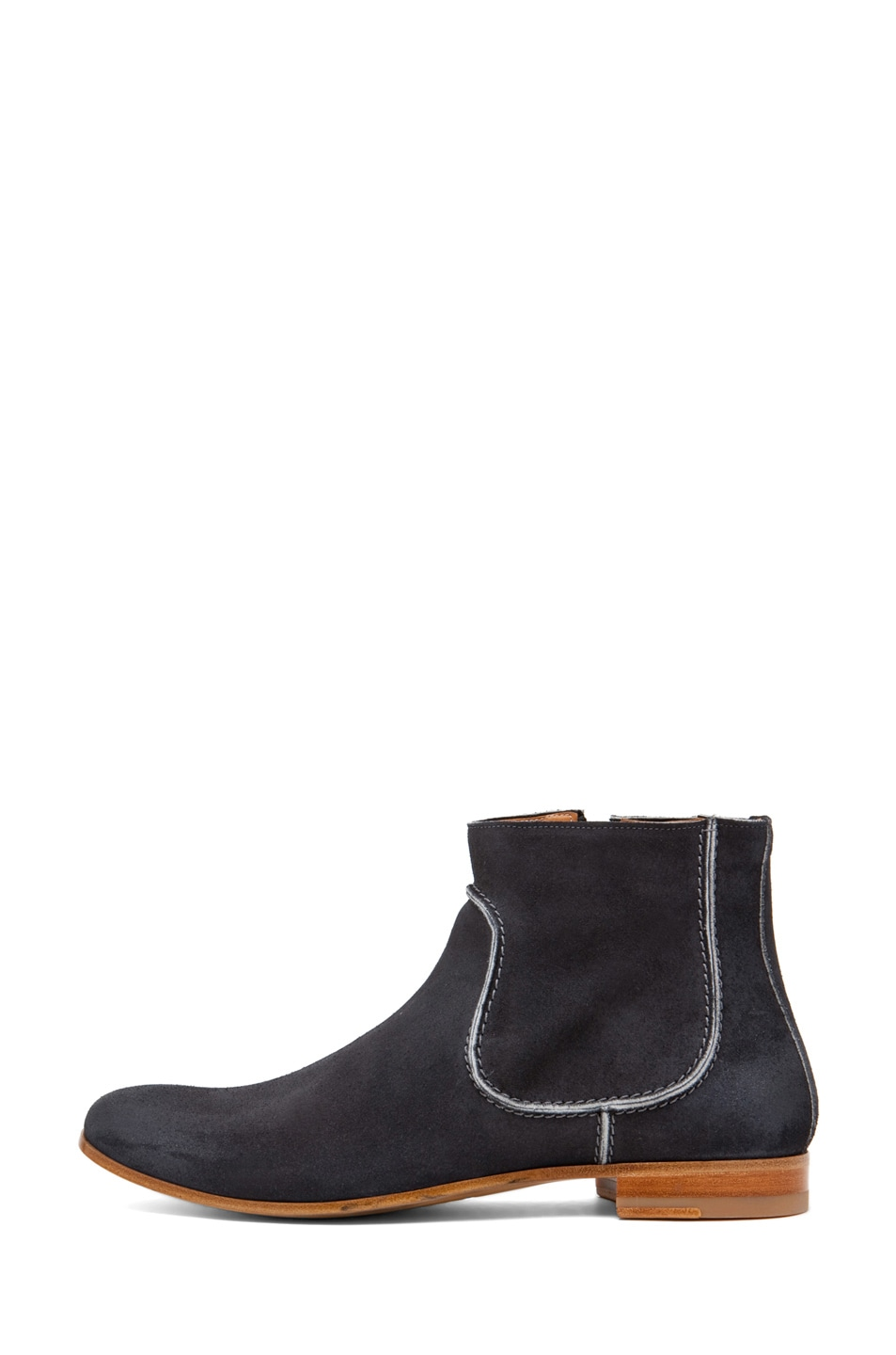 Image 1 of Maison Margiela Contrast Edge Boot in Black