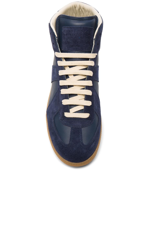 520130e226d Maison Margiela Calfskin & Suede Replica High Top Leather Sneakers ...