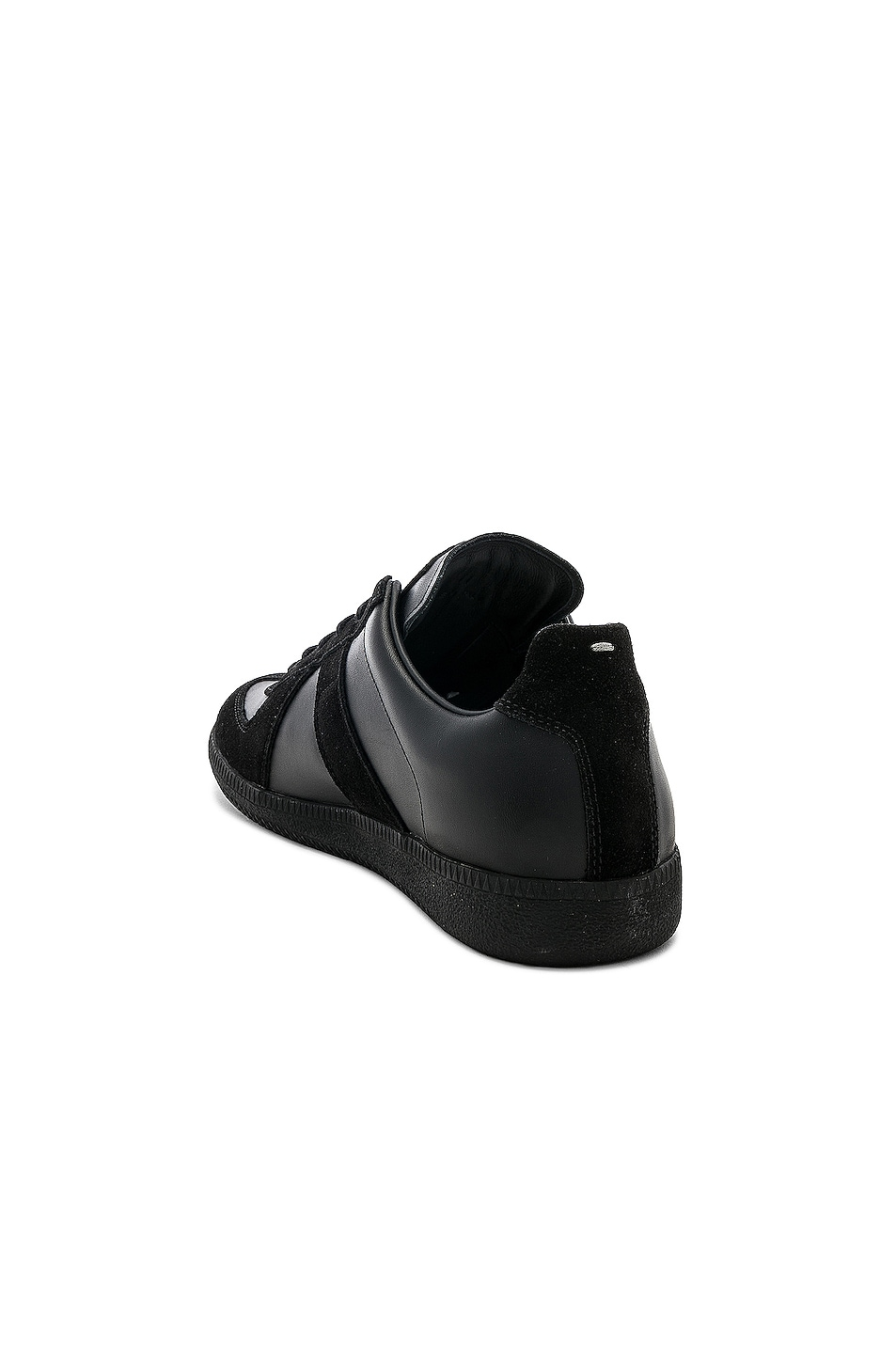 Image 3 of Maison Margiela Soft Leather & Velour Replica Sneakers in Black