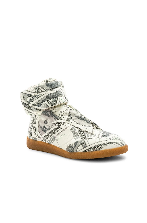 Image 1 of Maison Margiela Future Hi Top Sneakers in Dollar Variant