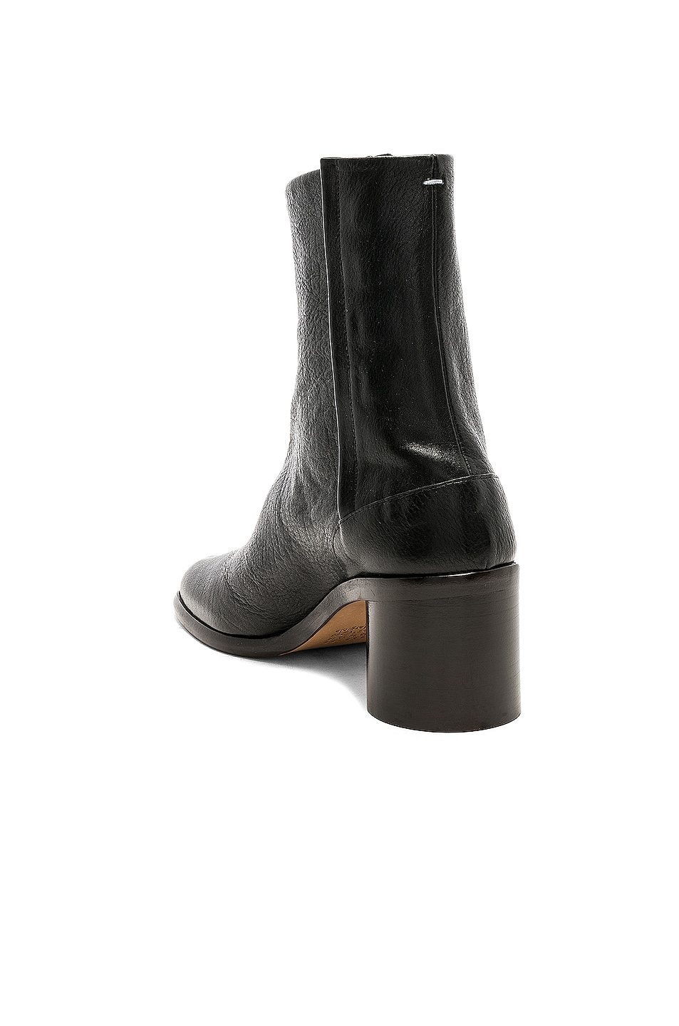 Image 3 of Maison Margiela Light Brushed Tabi Boot in Black